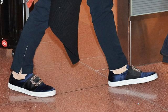 Cate Blanchett is a fan of Roger Vivier slip-on sneakers