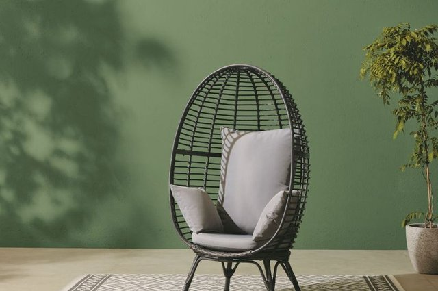 The Tesco Rattan Egg is a very similar design to the sold-out Aldi chair - and only £1 more