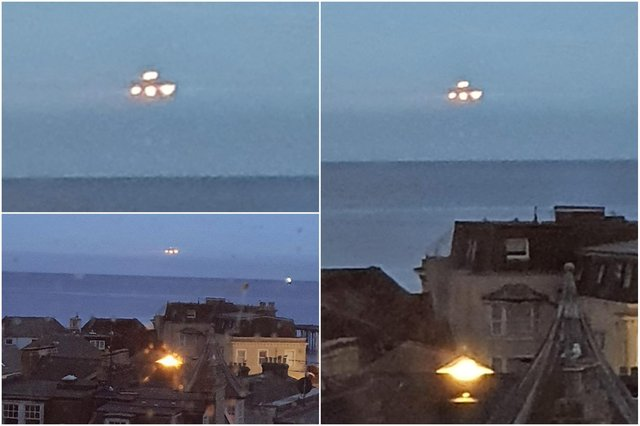 Matthew Evans spotted the bright unidentified object while peeping out of his top-floor flat window last week (Photos: Matthew Evans/SWNS)