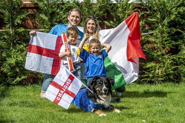 Daniel Furniss (from Leeds) and Italian wife Carlotta Furniss (from Venice) live in Leeds West Park with their children Francesca (6) and Federico (4) (Image: Tony Johnson)