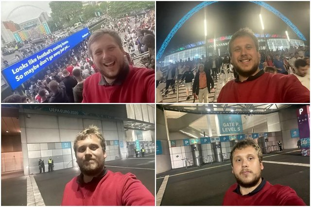 Football fan wasn't allowed into Wembley to watch final despite paying £1000 for a ticket (Photo: SWNS)