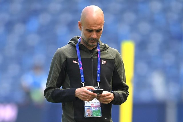Reigning Premier League champions Manchester City, coached by Pep Guardiola (pictured), will find out who they will face on opening day of the 2021/22 season when the fixtures are released. (Pic: Getty)