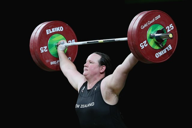 Laurel Hubbard at the Gold Coast Commonwealth Games (Photo by Alex Pantling/Getty Images)