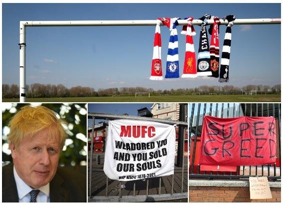 """Downing Street said Mr Johnson expressed """"solidarity"""" with the fans' groups (Photos: PA)"""