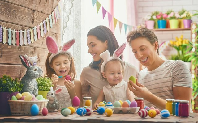 There are loads of different ways to celebrate Easter, such as painting eggs (Photo: Shutterstock)
