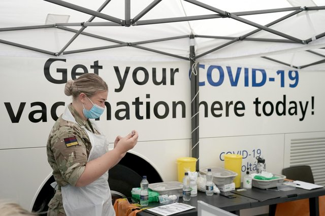 All over 18s can drop-in to the NHS sites across England this weekend (Photo: Getty Images)