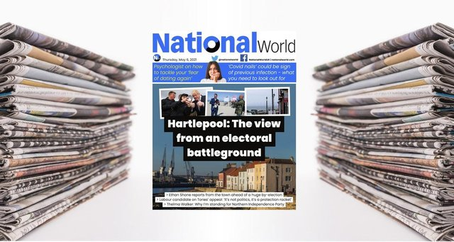 Our NationalWorld digital front page for 6 May