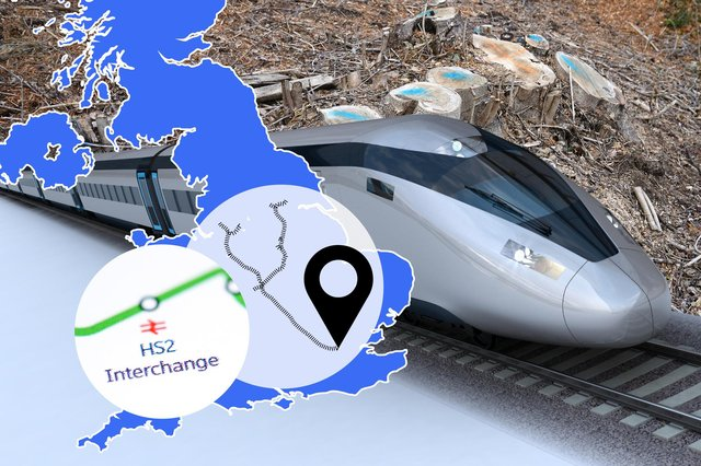 Work has started on digging a tunnel under the Chiltern Hills to make way for the new rail network (Graphic: Mark Hall / JPI Media)
