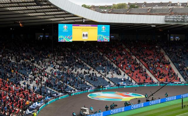 Fans returned to Hampden for Scotland v Czech Republic.