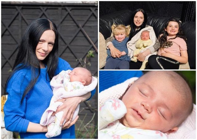 Sophie Bugg, 29, was 38 weeks pregnant when she popped to the loo in the middle of the night - only to leave the bathroom with a baby (SWNS)