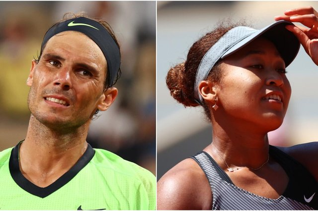 Wimbledon takes a hit: World No.3 Rafael Nadal has withdrawn from the men's tournament while Naomi Osaka, ranked second in the world, has opted not to play in this year's women's championships. (Pic: Getty)