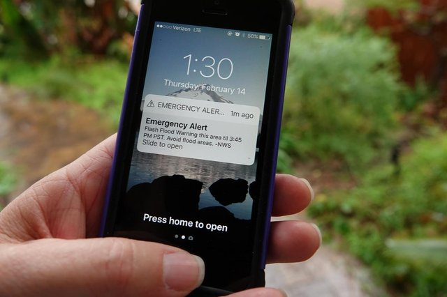 Alerts will be sent to some Android devices between 1 PM and 2 PM today (Photo: Shutterstock)