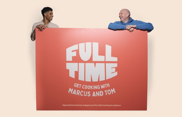 Footballer Marcus Rashford and chef Tom Kerridge have joined forces to offer recipe ideas for low-income families to help tackle food poverty (Gemma Bell and Company/PA).