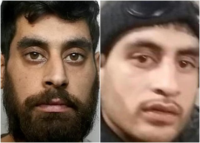 Thamraze Khan (left) knifed his younger brother Kamran Khan (right) in the back during a clash after a house party (SWNS)
