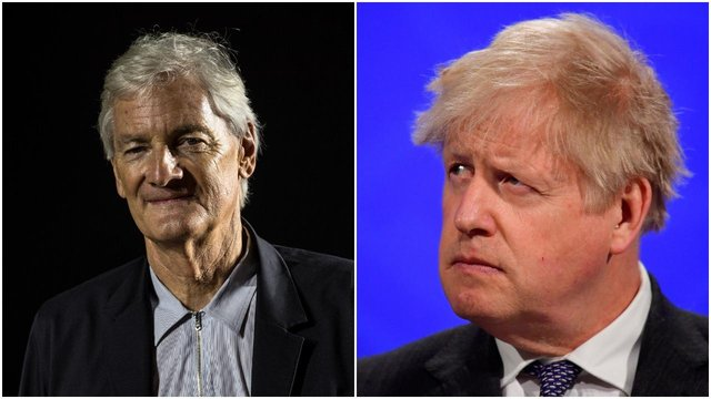 Texts were sent between Prime Minister Boris Johnson and businessman Sir James Dyson, according to reports (Getty Images)
