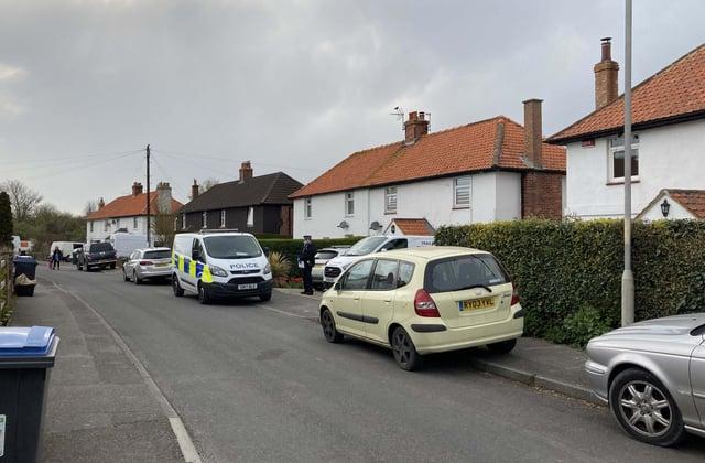 Police outside an address in Snowdown, Kent (Photo: PA)