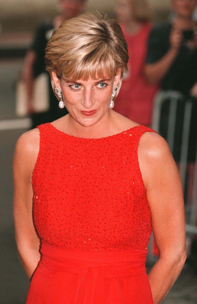 File photo dated 18/06/97 of Diana, Princess of Wales arriving at the Museum of Women in the Arts in Washington to attend a gala dinner for landmine victims. A British Red Cross branch president has recalled how the princess shared her plans for a night at home. Issue date: Thursday July 1, 2021.