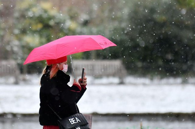 Some areas around the UK have already begun to experience snow (Photo: JUSTIN TALLIS/AFP via Getty Images)