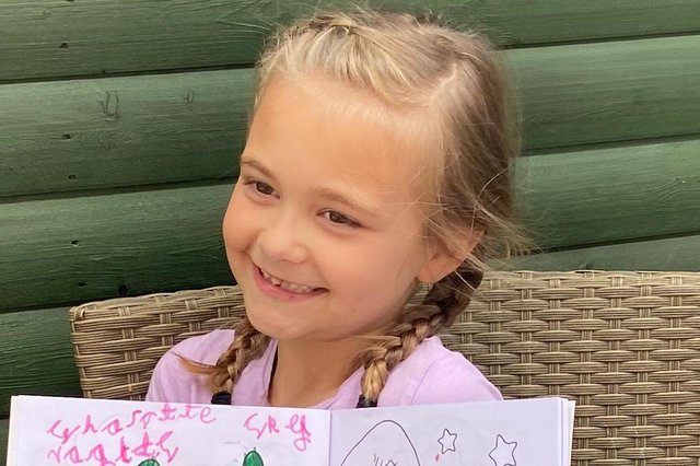 Family handout photo issued by Staffordshire Police of six-year-old Sharlotte Naglis who has died after she and her father were struck by a car