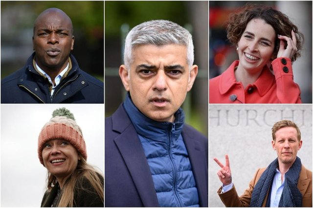 Some of the mayoral candidates for London: (clockwise from top left) Shaun Bailey, Sadiq Khan, Luisa Porritt, Laurence Fox, and Sian Berry (Photos: Getty Images)