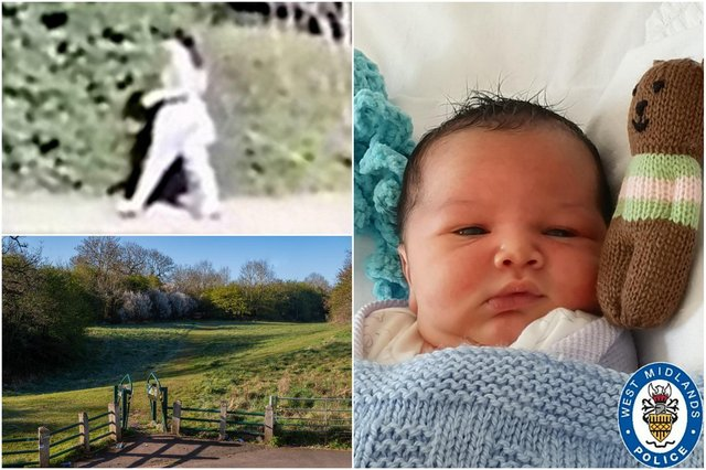 West Midlands Police have released photos of the baby found abandoned in a park in King's Norton, Birmingham (Photo: Police handout)