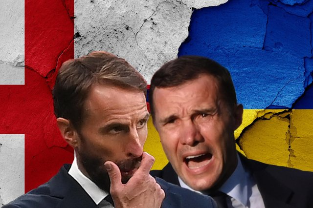 Gareth Southgate and Andriy Shevchenko