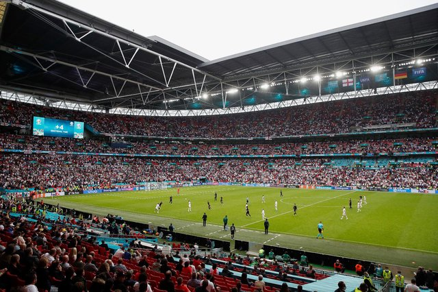 Wembley Stadium will be the setting for both Euro 2020 semi final ties and the final. (Pic: Getty)
