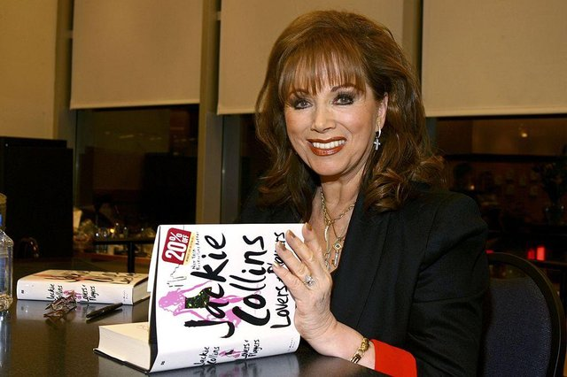 """NEW YORK - FEBRUARY 7:  Jackie Collins poses at an appearance at Barnes & Noble for the signing of her new book """"Lovers And Players"""" on February 7, 2006 in New York City.  (Photo by Scott Wintrow/Getty Images)"""