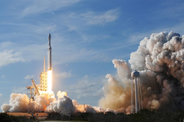 The rocket, called Long March 5B, was launched from Wenchang Space Launch Centre on 29 April (Photo credit should read JIM WATSON/AFP via Getty Images)