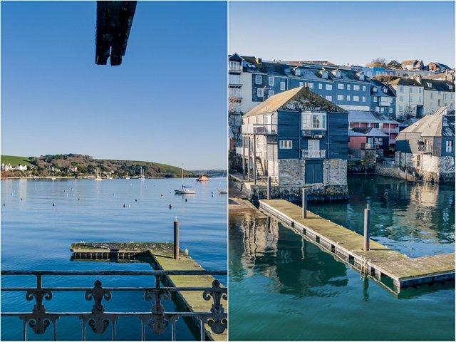 The waterfront position enjoys uninterrupted views of Falmouth's inner harbour.
