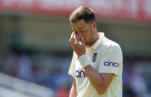 England cricketer Ollie Robinson.