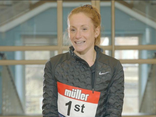 Marathon runner Stephanie Davis.