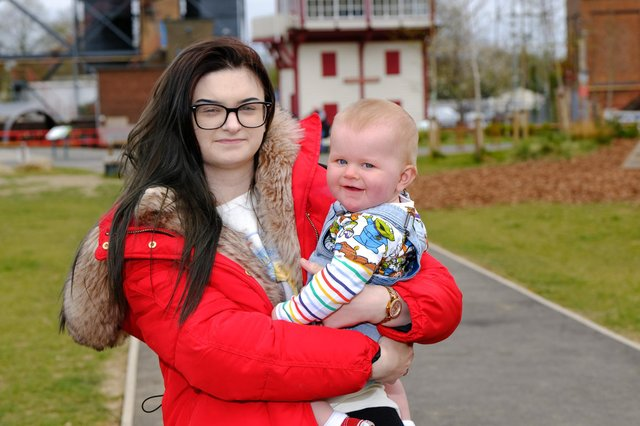 Ellisha Ford found out she was pregnant five months before she gave birth to baby Harper (SWNS)