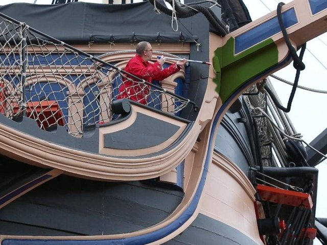 Many were fooled by the announcement that the HMS Victory was to be painted green in 2019