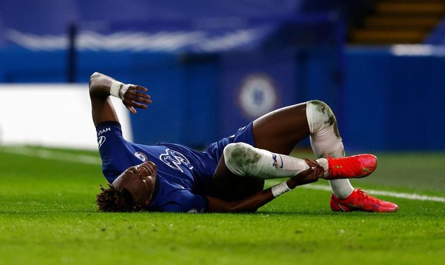 Tammy Abraham of Chelsea. (Photo by Adrian Dennis - Pool/Getty Images)