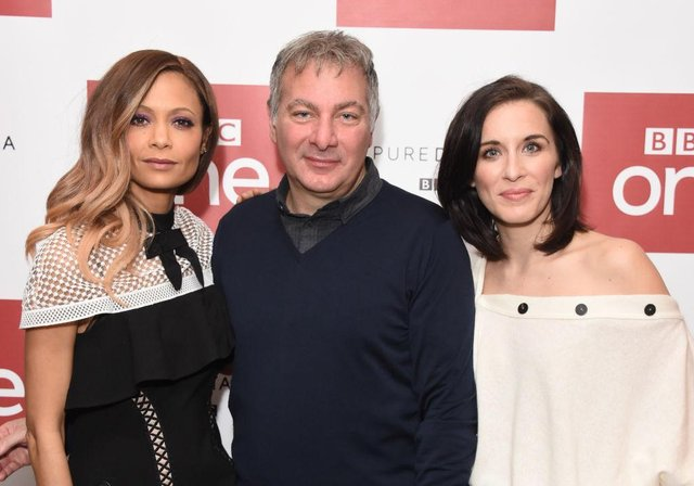 (From L) Thandie Newton, Jed Mercurio and Vicky McClure attend the launch of the BBC drama 'Line Of Duty' (Photo by Stuart C. Wilson/Getty Images).