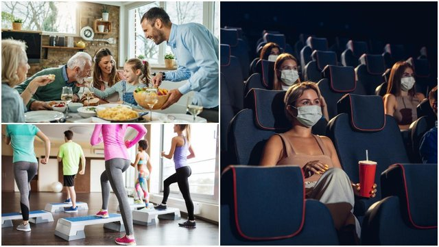 Cinemas, indoor exercise classes and gatherings inside homes with friends and family will be permitted in Level 2 (Shutterstock)