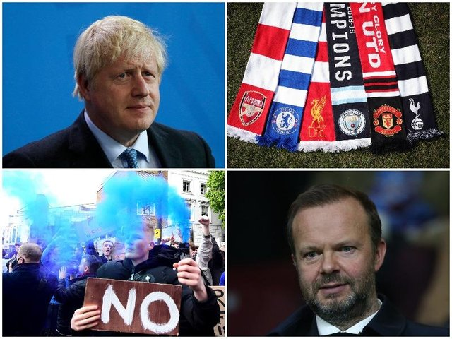 The Sunday Times reported that just four days before its launch, the Prime Minister may have given Manchester United executive vice chairman Ed Woodward the impression he would back the proposal (Getty Images and Shutterstock)