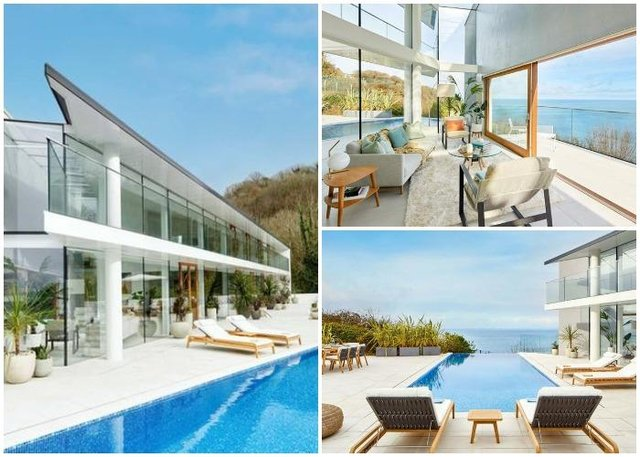 The fully furnished 'dream house'has five double bedrooms, six bathrooms and an infinity pool (Omaze)