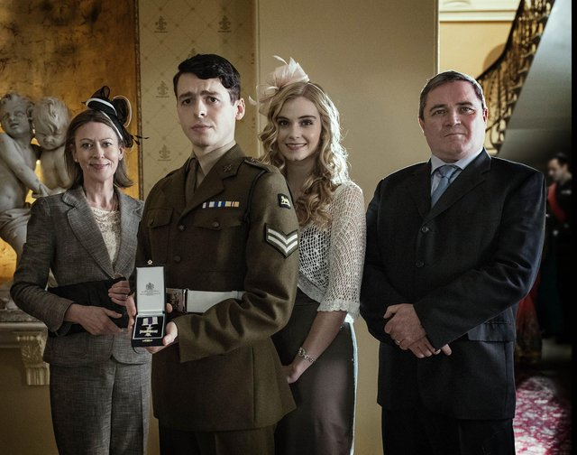 The upcoming feature stars Anthony Boyle as real-life soldier Brian Wood  (C) Expectation TV - Photographer: Sophie Mutevelian