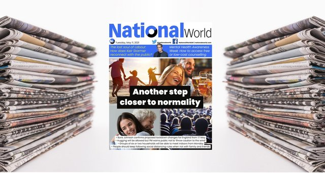 The digital front page of NationalWorld for 11 May (Image: NationalWorld)