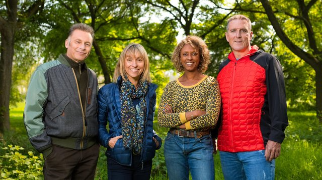 Chris Peckham and Michaela Strachan will be hosting from Wild Ken Hill, a rewilding agriculture project in West Norfolk (C) BBC - Photographer: Jo Charlesworth