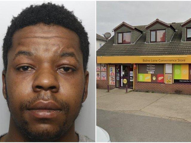 Jailed: Nguvauva assaulted the elderly man outside the shop on Balne Lane.