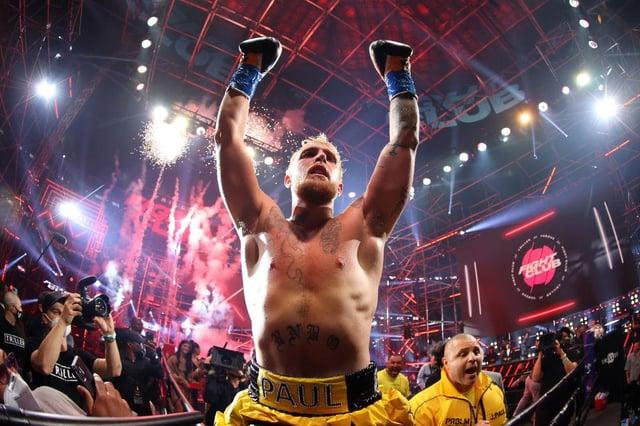 Jake Paul celebrates after defeating Ben Askren in Atlanta, Georgia (Photo: Al Bello/Getty Images for Triller)