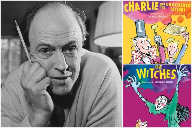 Do you have any of these books lying around? (Photo: Ronald Dumont/Getty Images/Roald Dahl Museum)