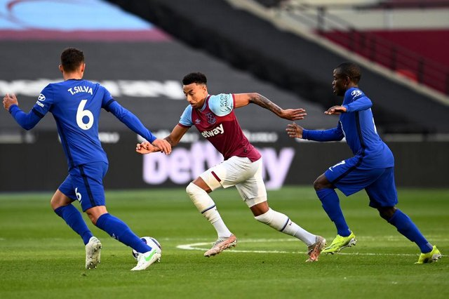 Jesse Lingard of West Ham. (Photo by Andy Rain - Pool/Getty Images)