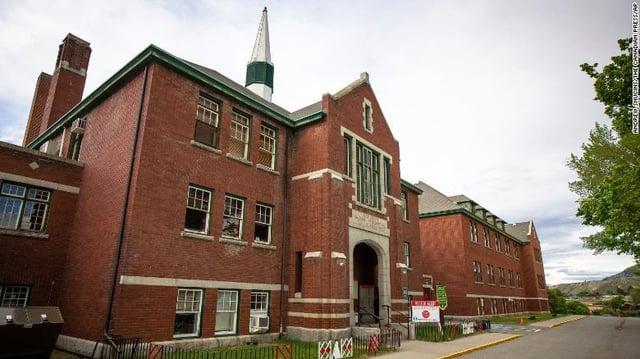 The former Kamloops Indian Residential School (PA)