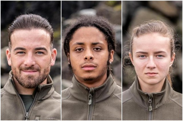Connor, Kieran and Justine all take on mental and physical challenges as new recruits (Picture: Channel 4)
