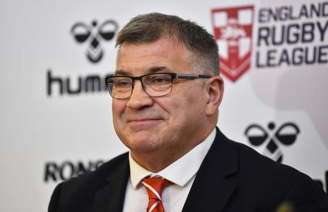 Shaun Wane, head coach of the England Rugby League team.