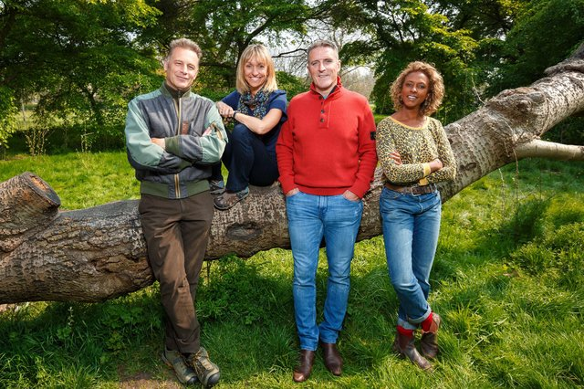 Returning to present the show in 2021 will be Springwatch stalwarts Chris Peckham, Micheala Strachan, Gillian Burker and Lolo Williams (C) BBC - Photographer: Jo Charlesworth